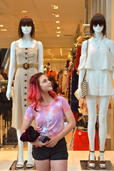 Standing out in the crowd (radargeek) Tags: mall pennsquaremall okc oklahomacity july christina twistina mannequin 2019