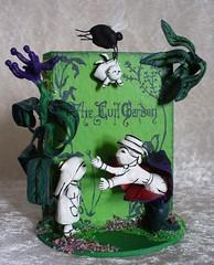 The Evil Garden by Edward Gorey (redmermaidwerewolf) Tags: edward gorey book diorama clay sculpting sculpt wire armature books handmade hand made painted crafts