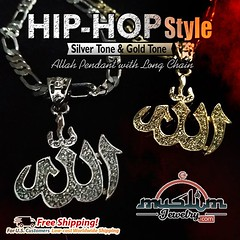 Hip-hop Style Allah Necklaces in Silver and Gold Tone Jewelry Pendants with Chains (muslimjewelry.com) Tags: muslimjewelry dhulfiqar islamic swordpendant zulfikar islamicjewelry muslimproduct muslimstyle muslimmensfashion imamali ali muslim jewelry sterling silver pendant ring jawshan allah ayatulkursi ayatkursi necklace liontin islamicpendant arabicpendant arabic asmaul husna asmaulhusna asma chain basmallah basmallahpendant