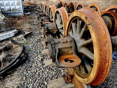 steel wheels_ ©  Sergei F