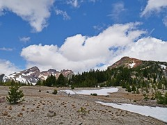 tb1180639SnowAtTrailhead (thom52) Tags: thom hiking mountain biking broken top todd lake central oregon bend