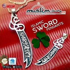 "Sterling Silver Dhul-fiqar ""La Fata illa Ali - La Saifa illa dhulfiqar"" Arabic Sword Pendants. Available in 3 sizes. (muslimjewelry.com) Tags: muslimjewelry dhulfiqar islamic swordpendant zulfikar islamicjewelry muslimproduct muslimstyle muslimmensfashion imamali ali muslim jewelry sterling silver pendant ring jawshan allah ayatulkursi ayatkursi necklace liontin islamicpendant arabicpendant arabic asmaul husna asmaulhusna asma chain basmallah basmallahpendant"