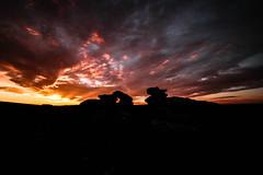 Dartmoor Sunrise (NikNak Allen) Tags: plymouth devon dartmoor moors moorland rocks stones landscape silhouette sky sun cloud clouds sunrise black red big large dramatic epic morning early long exposure 10stop nd shapes