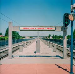 San Jose, California (bior) Tags: hasselblad500cm fujipro 160ns pro160ns mediumformat 120 lightrail vta blossomhill trainstation emergency safety area