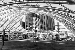 Denver Union Station (BeerAndLoathing) Tags: downtowndenver usa denver rp canonrf24105mmf4lisusm blackwhite bw unionstation colorado canoneosrp may canon 2019 spring downtown blackandwhite architecture trainstation railroad trains building