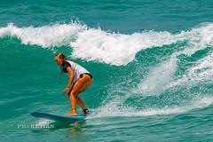 Girl in a bikini on a surf on a high wave. Nai Harn Beach, Phuket, Thailand                XOKA5752b3s (Phuketian.S) Tags: girl bikini surf surfing board wave water sea blue sport jump speed sexy woman foam thong gstring ass вода девушка волна серфинг доска стринги купальник бикини секси спорт пхукет таиланд тайланд phuketian outdoor people beach thailand phuket ocean drop droplet young model women