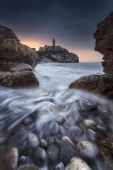 Magic moments (Anto Camacho) Tags: landscape longexposure rocks foam sea ocean tower nature sunset sunshine spain castellón