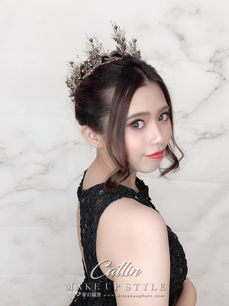 【新秘Catlin】新娘造型創作 / 歐風皇冠造型