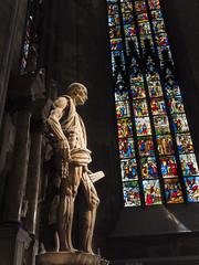St Bartholomew Duomo Milano (ken 898) Tags: duomo milano st bartholomew italy sculpture stained glass window