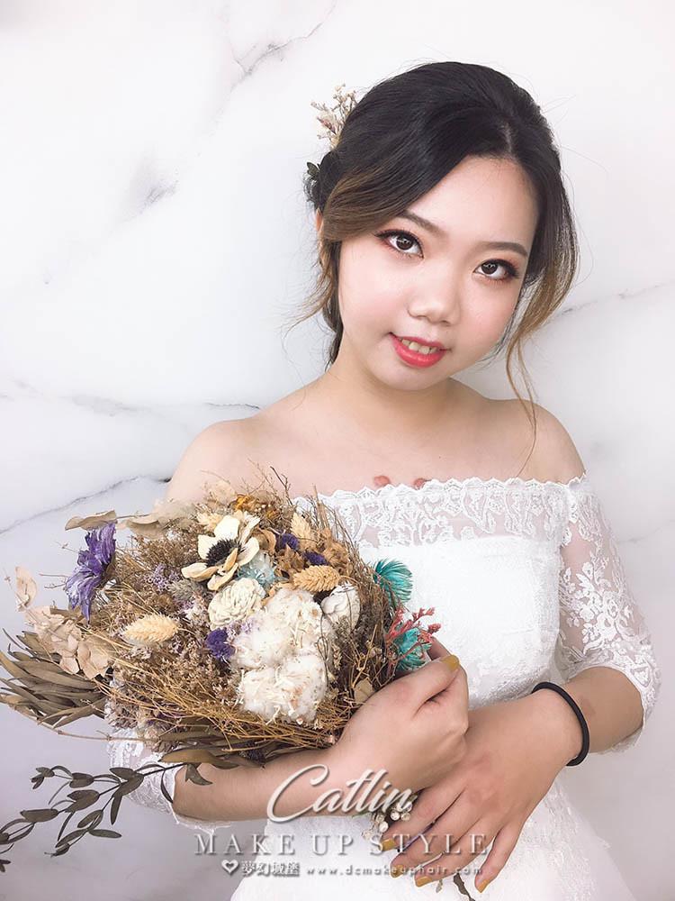 【新秘Catlin】新娘造型創作 / 田園編髮造型