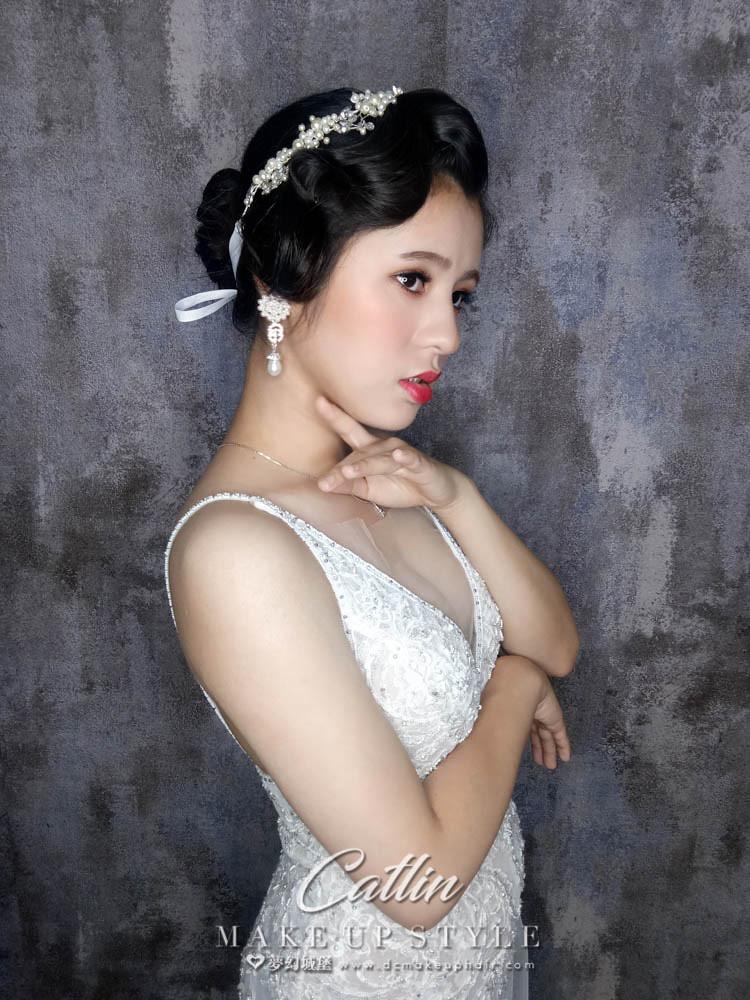 【新秘Catlin】新娘造型創作 / 復古造型