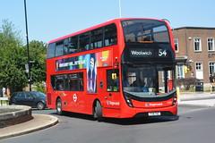 YY18 TKZ (11001) Stagecoach London (hotspur_star) Tags: londontransport londonbuses londonbus londonbuses2019 alexanderdennisltd enviro400hmmc tfl transportforlondon hybridbus hybridtechnology busscene2019 doubledeck stagecoachlondon yy18tkz 11001 54