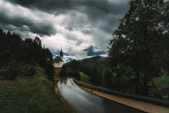 Take me to the church (der_peste (on/off)) Tags: church landscape bavaria rainy moody mood road clouds weather beautiful sonya7iii germany