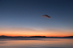 Dusk (Massimo_Discepoli) Tags: lake water sunset dusk cloud sky moody silence swans