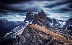 M . A . G . N . I . T . U . D . E (marcolemos71) Tags: dolomites seceda longexposure italy mountain clouds landscape dramaticsky leefilters marcolemos