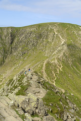 Striding Edge (l4ts) Tags: landscape cumbria lakedistrict easternfells patterdale helvellyn striding edge walkers
