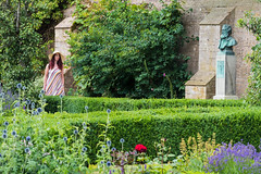 A walk in the garden (alanrharris53) Tags: garden lady woman hat floppy newstead abbey flowers plants hedges box privet byron
