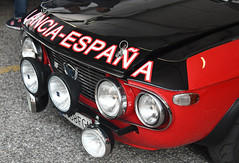 Lancia Fulvia coupé rally 1.6 HF (1970) (baffalie) Tags: auto voiture ancienne vintage classic old car coche retro expo italia sport automobile racing motor show collection club course race circuit italie padoue fiera