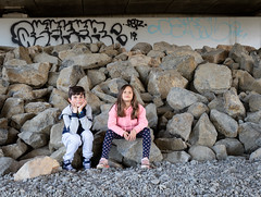 Under the Ashley River Bridge (199/365) (johnstewartnz) Tags: canon canonapsc apsc eos 7dmarkii 7d2 7d canon7dmarkii canoneos7dmkii canoneos7dmarkii tripod 100canon ashleyriver ashleyriverbridge grandchildren kaylee ethan bridge 199365 day199 onephotoaday oneaday onephotoaday2019 365project project365 2470 2470mm ef2470mmf4l canonef2470f40l