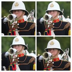 Bugle Player (FotoFling Scotland) Tags: brass bugle collage highlandgames inveraray scotland thebandoftheroyalmarines uniform
