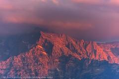 Abendrot Stimmung am mächtigen Göll (Augenblicke vom Salzburger u. Berchtesgadener Land) Tags: salzburg österreich natur landschaft berge abendrot sonnenuntergang göll