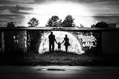 «Thank you for this world.» (Listenwave Photography) Tags: ngc flickrelite listenwave sigma foveon bnw art graffiti city urban symbol sun baby picture world apocalyptic