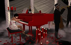 Romance in the clouds (anniedora651) Tags: piano love trumpet red music play candles romance