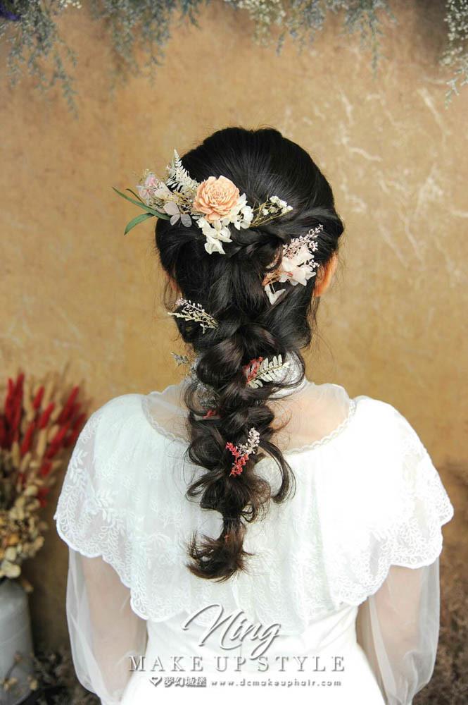 【新秘羽寧】新娘造型創作 / 乾燥花編髮造型