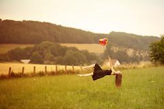 Levitation (bLiCk=WiNkeL) Tags: levitation schwebebild mädchen frau jung traum traumbild wiese natur composing longhair cute dream
