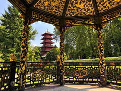 Chinese Pavilion and Japanese Tower in Brussels (kylewagaman) Tags: chinese japanese china japan architecture building pagoda europe european chinesepavilion japanesetower tower pavilion