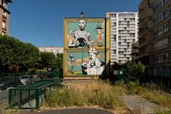 EvaséSir (lepublicnme) Tags: france aubervilliers july 2019 streetart evazesir norulescorp urbanart muralism wall bluesky