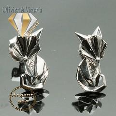 Boucles d'oreilles renard en argent 925 (olivier_victoria) Tags: argent 925 boucles boucle doreille animaux oreilles animal renard