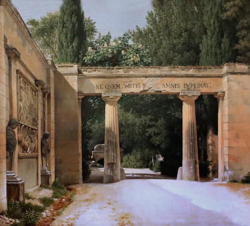 IMG_3280 Christoffer Wilhelm Eckersberg 1783-1853 Danish The garden of the Villa Borghese in Rome 1814 Copenhagen Statens Museum for Kunst