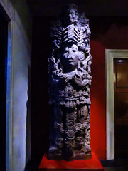 Aztec Gods (Steve Taylor (Photography)) Tags: aztec art sculpture statue red purple mauve blue brown eerie scary frightening weird odd strange crazy mad uk gb england greatbritain mexican unitedkingdom london stone britishmuseum