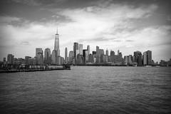 NYC Skyline IV BW (Alexander Day) Tags: nyc ny nj new york jersey city alex alexander day liberty state park hudson river water sky skyline one world trade center