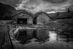 Boathouses (Oddbjørn Strand) Tags: kvilldal norway rural boathouses oldbuildings landscape