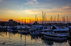 Sunset 16-7-19 Weymouth (Ian Caldwell Photography) Tags: weymouth dorset harbour marina sunset boats yachts sea water clouds canon photography ian caldwell 1200d