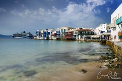 Little Venice, Mykonos (corineouellet) Tags: island sea bluewater colors canonphoto cityscape ocean water exposure longexposure slowshutter longexpo travel grece greece mykonos