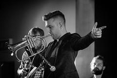 Louis Dowdeswell (Mister Oy) Tags: louisdowdeswellbigband wijf 2019 jazz music livemusic mono monochrome blackandwhite flugel trumpet brass