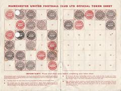 Manchester United Official Token Sheet Season 1957-8 (Leslie Millman-Manchesterunitedman1) Tags: token sheet 19578