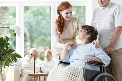 Top 6 Signs & Symptoms of Alzheimer's in Seniors (homecareassistancepembrokepines) Tags: wheelchair disabled caregiver caucasian holding lady shoulders husband pushing senior home elder old person health care happy people uniform windows glasses nursing paralysis osteoporosis pensioner blanket background blurred flower friends couple smile rest retired nurse senility house retirement caretaker nanny elderly retirees volunteer disease parkinsons alzheimers support common room indoors poland kind helpful friendly interior