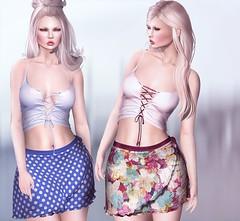OPIA Avril Top & Skirt (Shena Neox) Tags: floral dots maitreya belleza isis venus freya lara style summer blog design exclusive senseevent opia