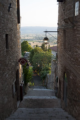 Assisi, Perugia, Italy (Tokil) Tags: assisi perugia umbria italia italy medieval ancient medievalvillage ancientvillage street alley stairs landscape hills colors sunset sunsetlight urban travel nikond90