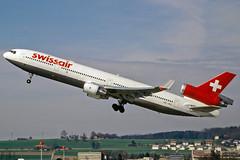 McDonnell Douglas MD-11 HB-IWQ Swissair (Andries Waardenburg) Tags: md11 hbiwq zrh lszh