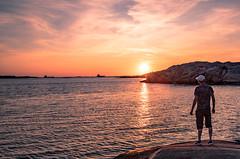 Watching the Sunset (Fredrik Lindedal) Tags: sweden sverige coast coastline westcoast bohus gothenburg göteborg ocean sunlight sunset reflection lindedal me selfie