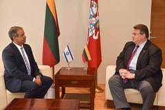 Ministras L. Linkevičius atsisveikina su Izraelio ambasadoriumi (Lithuanian MFA) Tags: purple