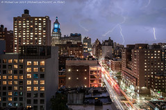 Lightning (20190717-DSC01309-Edit) (Michael.Lee.Pics.NYC) Tags: newyork lightning rain storm eastvillage architecture cityscape composite sony a7rm2 voigtlanderheliar15mmf45