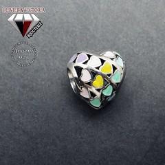 Charms multicoeurs pastel argent 925 (olivier_victoria) Tags: argent 925 coeur charms couleur charm charme pastel coeurs