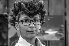 Jeune garçon à la banane (Xtian du Gard) Tags: xtiandugard portrait nb bw pégoulade nîmes 2019 gard france garçon boy