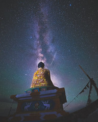 Milkyway with Buddha Statue from Langza